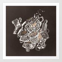 Teacup Extravaganzza. Il… Art Print