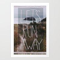 Let's Run Away: Cannon B… Art Print