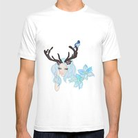 Ice Lady. Mens Fitted Tee White SMALL