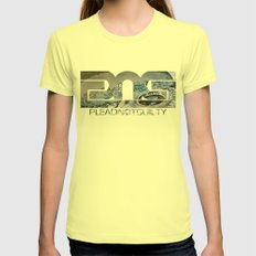 Lost Home Womens Fitted Tee Lemon SMALL