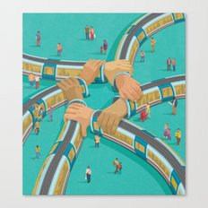 Train link Canvas Print
