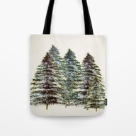 Evergreen Tree Tapestry Tote Bag