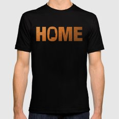 Alabama home state faux copper foil print Mens Fitted Tee Black SMALL