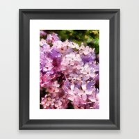 lilac season is my favorite  Framed Art Print