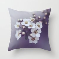 Flower in the mist Throw Pillow