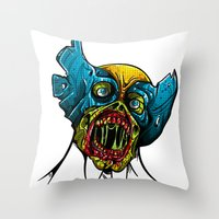 Zombie Wolverine Throw Pillow