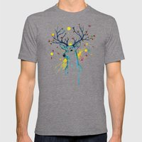 Butterfly Deer Mens Fitted Tee Tri-Grey SMALL