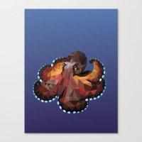 Geometric Octopus Canvas Print