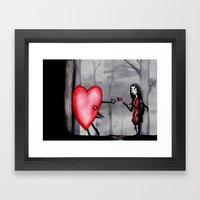Nightmare Before Valentines Day Framed Art Print
