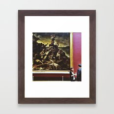 Conversing art Framed Art Print