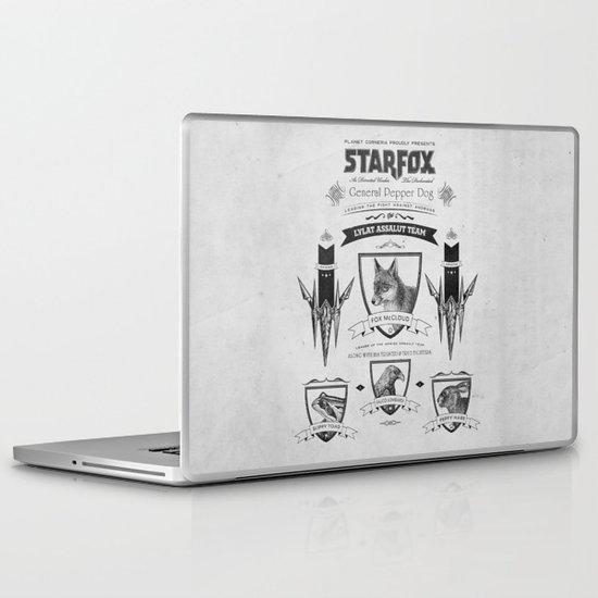 Star Fox Vintage Poster Geek Line Artly Laptop & iPad Skin