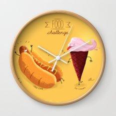 Food Challenge Wall Clock
