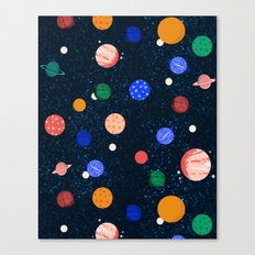 Cosmic Planets  by Andrea Lauren Canvas Print