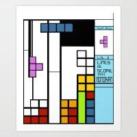Mondrian Taught Me Every… Art Print