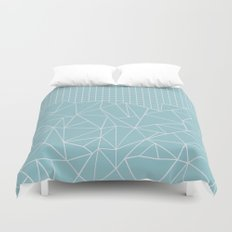 Ab Outline Grid Salty Duvet Cover
