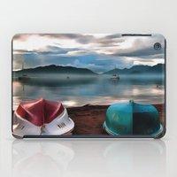 Hulls of Boats And Marmaris Winter Seascape iPad Case