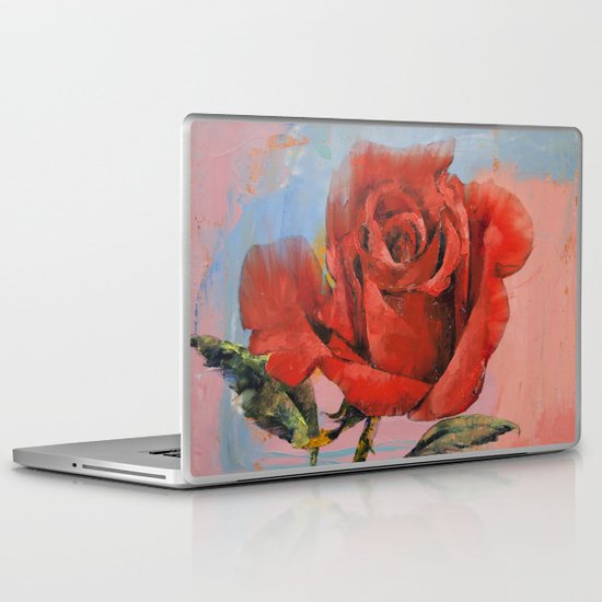 Rose Painting Laptop & iPad Skin