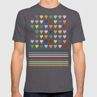 Hearts Stripes Mens Fitted Tee Asphalt SMALL