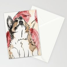 Charles Red Stationery Cards