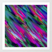 Colorful digital art splashing G400 Art Print