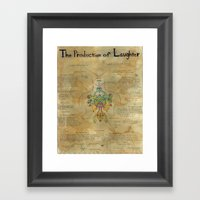 The Production Of Laught… Framed Art Print