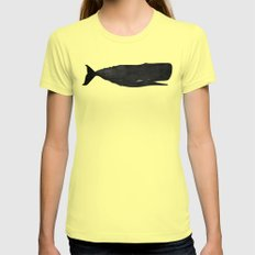 Whale Womens Fitted Tee Lemon SMALL