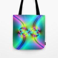 Neon Love Knots Tote Bag