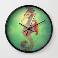 Seahorse Lady Wall Clock
