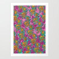 Flower Paisley 1 Art Print