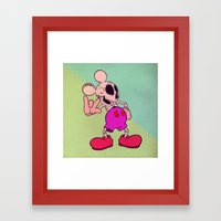 Mouse Skeleton Framed Art Print