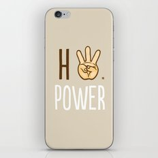 HiiiPower (w/text) : Pale iPhone & iPod Skin