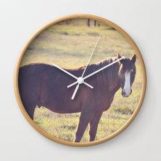Chesnut Horse Wall Clock