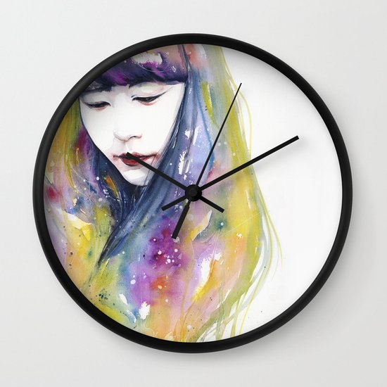 lime nights Wall Clock