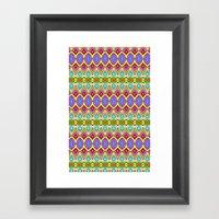 Happy Pattern 001 Framed Art Print