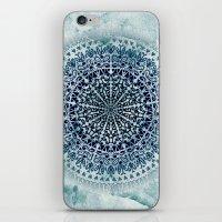 BLUE ICELAND MANDALA iPhone & iPod Skin