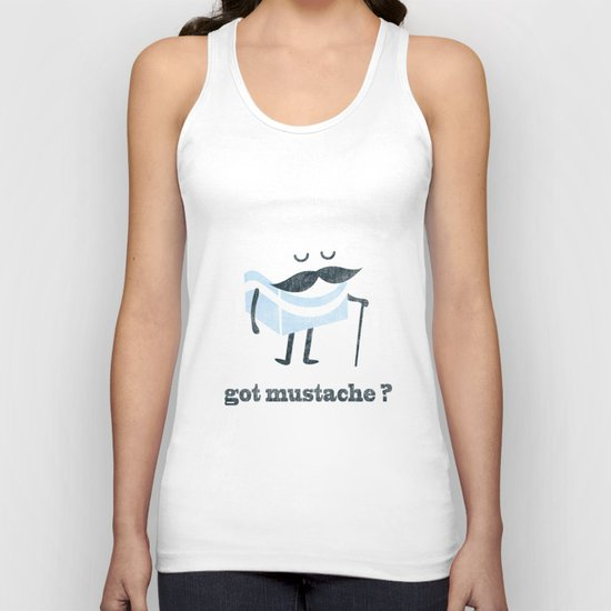 Got mustache? Unisex Tank Top