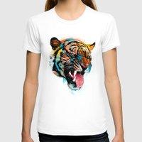logo T-shirts featuring FEROCIOUS TIGER by dzeri29