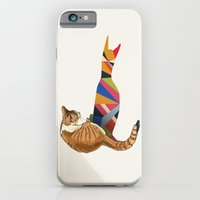 iPhone Cases featuring Walking Shadow, Cat 2 by Jason Ratliff