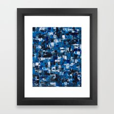 Blue Blade Painting Framed Art Print