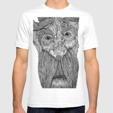 Tree Person Mens Fitted Tee White SMALL