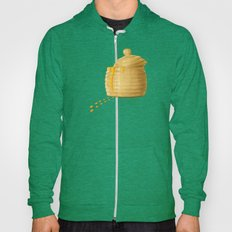 Dip Into The Honey Jar - Green Painting Hoody
