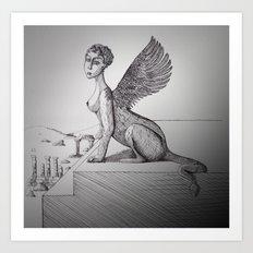 My-thology, the Sphinx Art Print