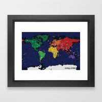 Global Citizen Framed Art Print