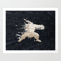 Father, Master, Brother (Homage to Gouken of Street Fighter) Art Print
