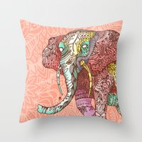 Elephant Ini Throw Pillow