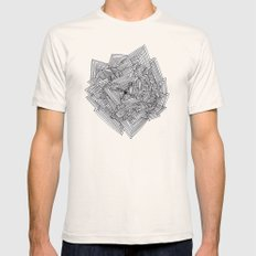 Hard Repeat Mens Fitted Tee Natural SMALL