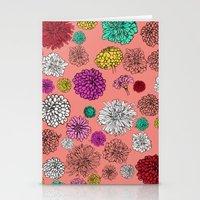 Zinnia pattern Stationery Cards