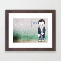 Dr. House Framed Art Print
