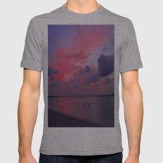 Swimming Towards Sundown Mens Fitted Tee Athletic Grey SMALL