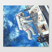 Space Walker Canvas Print